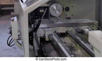CNC Lathe machine in workshop HD