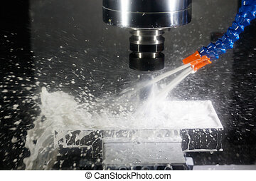 cnc machining center milling with coolant