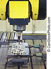 CNC milling cutter in action