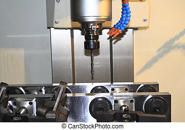 CNC milling ,Machine tool - CNC machine at work