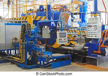 cnc, tour, équipement, production