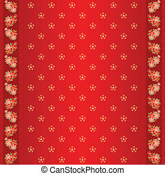cny frame seamless flower - Oriental Chinese New Year cherry...