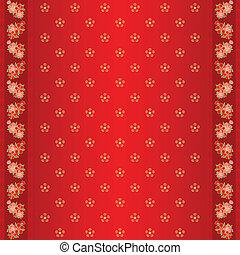 cny frame seamless flower