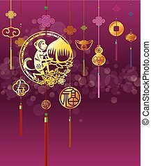 CNY monkey background