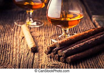coñac, calidad, cigarros