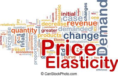 coût, concept, elasticity, fond
