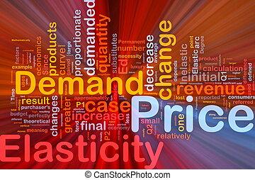coût, concept, elasticity, fond, incandescent