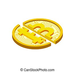 coût, currency., crypto, cryptocurrency, cassé, automne, bitcoin., crise
