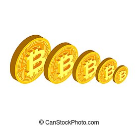 coût, currency., crypto, cryptocurrency, réduction, automne, bitcoin., crise