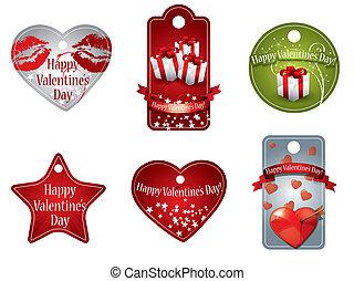 coût, jour valentine, étiquettes