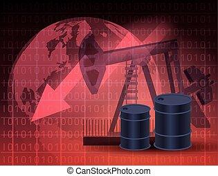 coût, marché, huile, barils