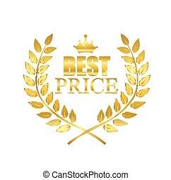 coût, mieux, illustration, étiquette