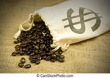 coûteux, grains café
