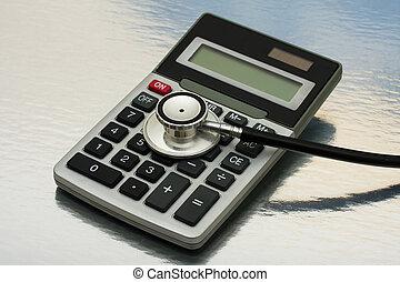 coûts, calculer, healthcare