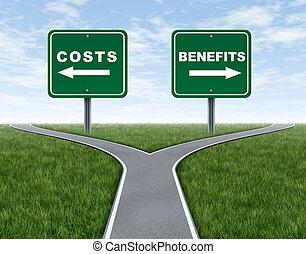 coûts, et, avantages