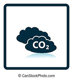 CO 2 cloud icon