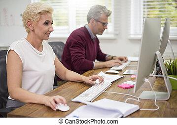 co arbeiter, beschäftigt, vor, computer