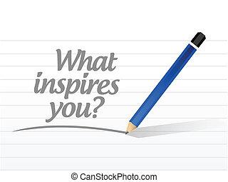 co, ilustracja, inspires, projektować, wiadomość, ty
