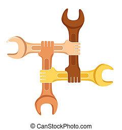 co-operation symbol - illustration of co-operation symbol on...