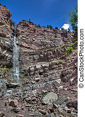 CO-outside of Ouray - This waterfall is located in Ouray,...