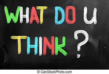 co, pojęcie, ty, myśleć