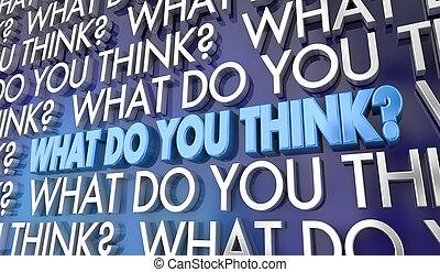 co, punkt widzenia, ilustracja, twój, słówko, zdanie, ty, myśleć, 3d