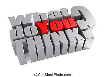 co, pytanie, mettalic, ilustracja, ty, biały, cechujący, myśleć, 3d