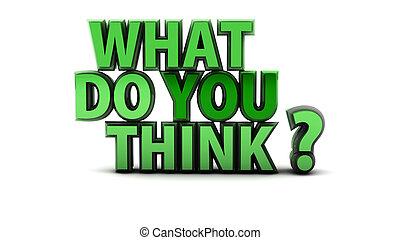 co, pytanie, ty, myśleć
