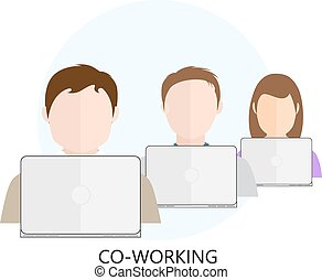co-working, ikon