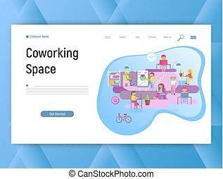 co-working, przestrzeń