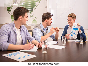 Co-working - Teamwork concept. Young business partners...