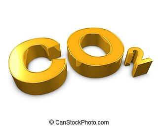 Co2 - 3d image, pollution conceptual carbon monoxide