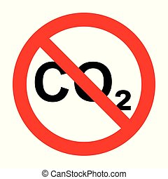CO2 and prohibition sign