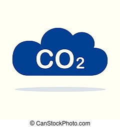 CO2 blue cloud isolated on white background