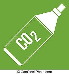 CO2 bottle icon green