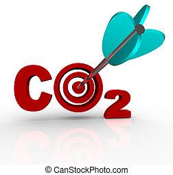 co2, cible, émission, réduction, bioxyde, carbone, but