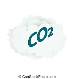 CO2 cloud icon, isometric 3d style