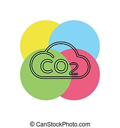 Co2 cloud icon natural ecology, clean environment