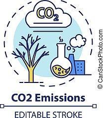 CO2 emission concept icon