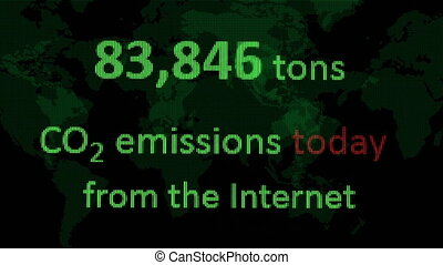 CO2 emissions from the internet