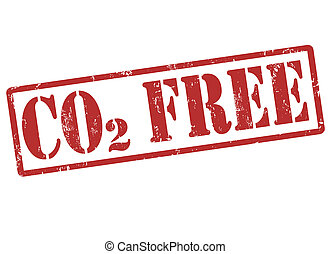 CO2 Free stamp