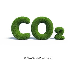 co2 green grass in the form of letters