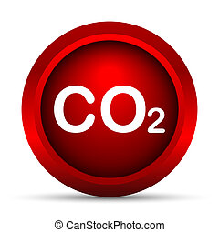 CO2 icon. Internet button on white background.
