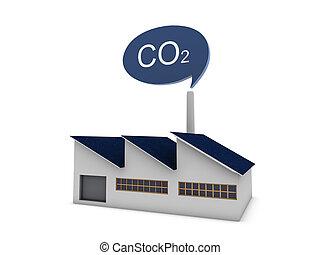 CO2 modern factory