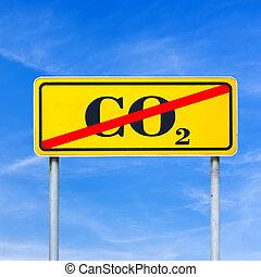 co2, parada, emisiones