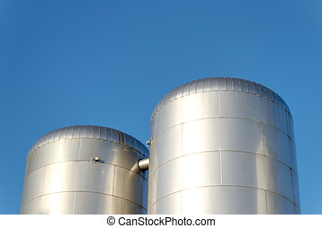 CO2 Reservoirs - CO2 reservoirs at a fizzy drink factory