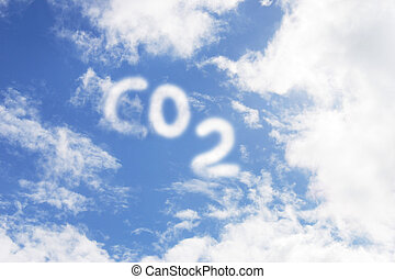 CO2 - Carbon Dioxide symbol in sky