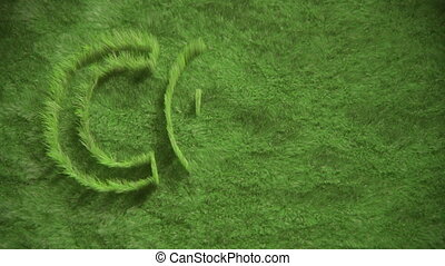 CO2 symbol growing in grass - CO2 icon created by growing...