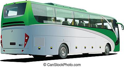 coach., ベクトル, bus., 観光客
