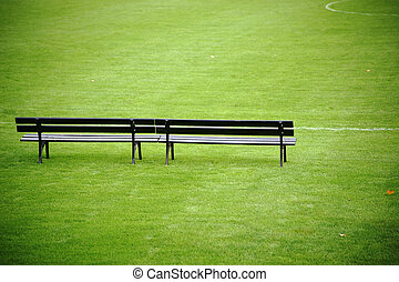 Coach bench at soccer field